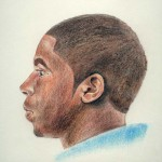 Ear - colored pencil