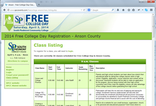 Free College Day Anson Registration Site