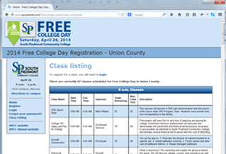 Free College Day Union Registration Site
